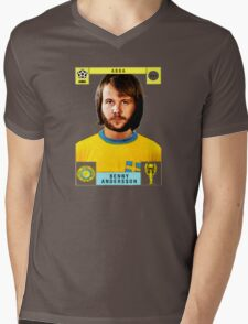 Benny Andersson from Abba retro football team design!~ Mens V-Neck T-Shirt