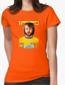 Benny Andersson from Abba retro football team design!~ Womens Fitted T-Shirt