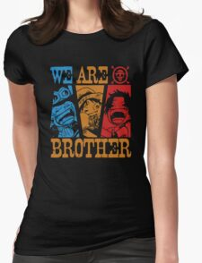 We Are Brothers - Portgas D Ace, Monkey D Luffy, Sabo One Piece Womens Fitted T-Shirt