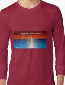 Flat Water - Flat Earth Long Sleeve T-Shirt