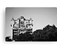 Hollywood Tower Hotel (Black & White) Canvas Print