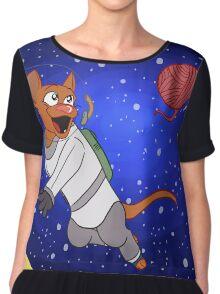 Cosmic Kitty Chiffon Top
