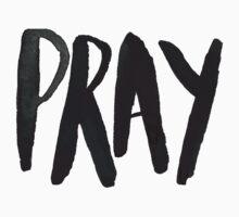 Pray Typography Kids Tee