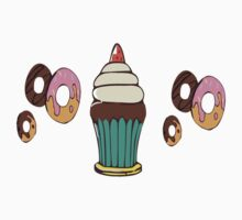 Donuts and Cupcakes One Piece - Short Sleeve