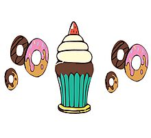 Donuts and Cupcakes Photographic Print