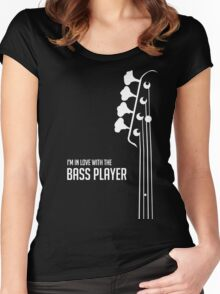 I'm in Love With the Bass Player Tee - Bass Guitarist - Bassist Women's Fitted Scoop T-Shirt