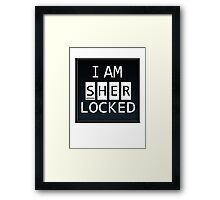 Sherlocked - PHONE DISPLAY Framed Print