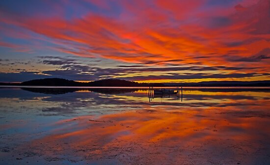 Moored Under a Red Sky by bazcelt