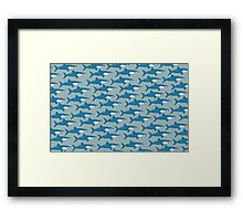 Shark infested Framed Print
