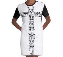 Tribal graffiti cross Graphic T-Shirt Dress