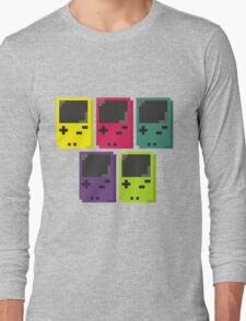 Gameboy Colors Long Sleeve T-Shirt