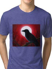 Bird 62 Crow Raven Tri-blend T-Shirt