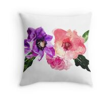 Beautiful dry brushed flowers Throw Pillow
