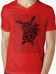 Pokemon Go Pikachu Geometric Doodle Mens V-Neck T-Shirt