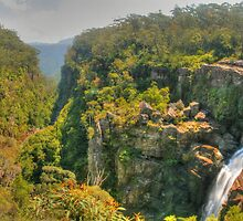 Carrington Falls pano by Michael Matthews