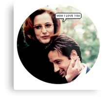 "Gillovny - ""Wow I love you"" Metal Print"