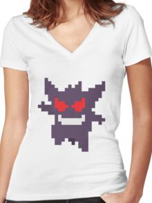 Gengar Women's Fitted V-Neck T-Shirt