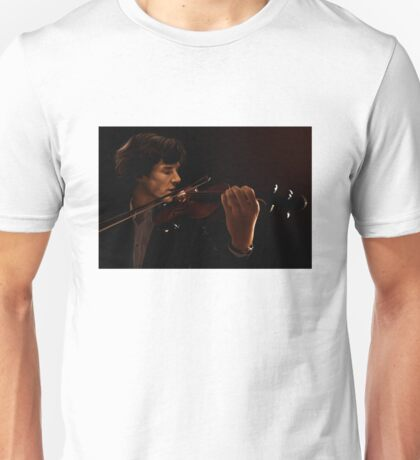 Sherlock and his Violin Unisex T-Shirt