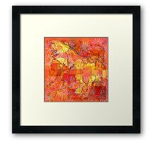 Abstract Shapes Over Daisies: Maps & Apps Series Framed Print