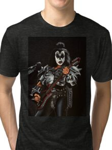 Gene Simmons of Kiss Painting Tri-blend T-Shirt