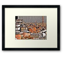 Junkyard Alley Framed Print