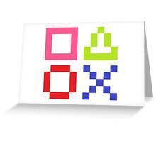 Pkaystation Symbols Greeting Card