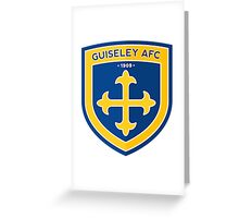 Guiseley AFC Badge Greeting Card