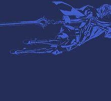 Lucina Minimalist Blue by jamden37