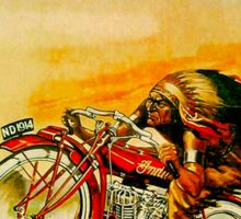 """INDIAN"" Vintage Motorcycle Advertising Print Sticker"