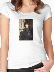 Sherlock at 221B Women's Fitted Scoop T-Shirt
