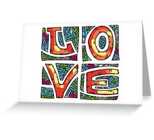 Love Alphabet Greeting Card
