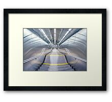 Stepping Down To The Underground Framed Print