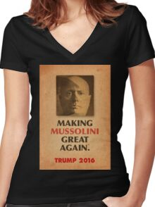 Trump Makings 2.  Women's Fitted V-Neck T-Shirt