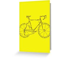Bike in Words Greeting Card