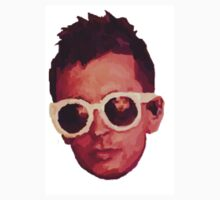 paint drawing of tyler joseph's face (josh in reflection of glasses) One Piece - Short Sleeve