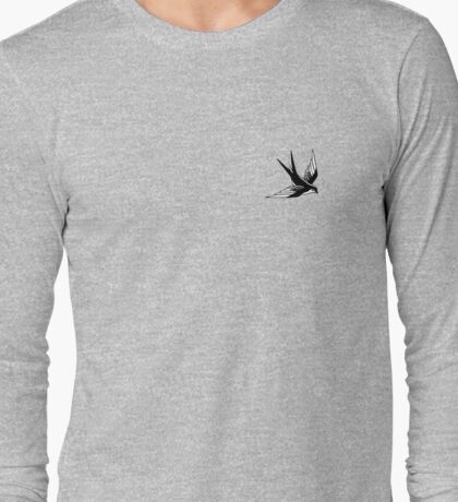 Sailor Jerry Swallow / Black & White Long Sleeve T-Shirt