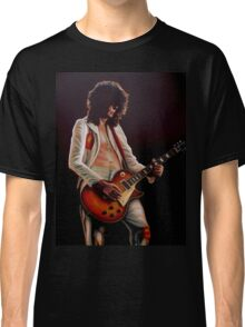 Jimmy Page In Led Zeppelin Painting Classic T-Shirt