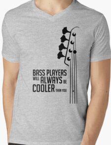 Bass Player - Always Cool! Bass Headstock - Black Color - Bass Guitarist - Bassist Mens V-Neck T-Shirt