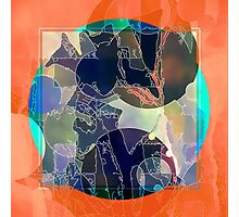 Abstraction on Orange: Maps & Apps Series Photographic Print