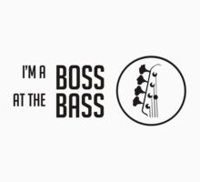 I'm a Boss at the Bass - Black Color - Bass Guitarist - Bassist Kids Clothes