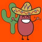 Little Mexican Jumping Bean - Cute Kids Cartoon Character by designedbyn
