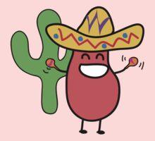 Little Mexican Jumping Bean - Cute Kids Cartoon Character Kids Tee