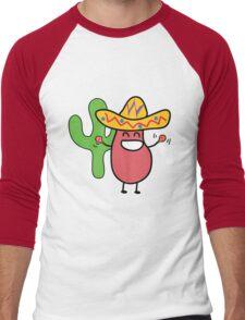 Little Mexican Jumping Bean - Cute Kids Cartoon Character Men's Baseball ¾ T-Shirt