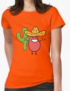 Little Mexican Jumping Bean - Cute Kids Cartoon Character Womens Fitted T-Shirt