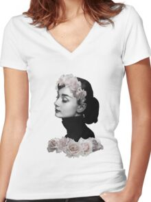 Fair Lady Women's Fitted V-Neck T-Shirt