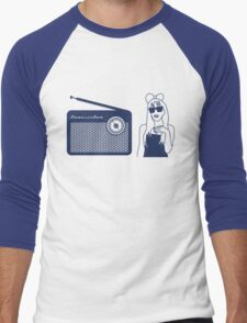 Radio Gaga - Lady Gaga & Queen Freddie Mercury Parody Men's Baseball ¾ T-Shirt