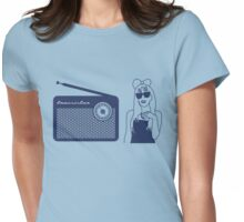 Radio Gaga - Lady Gaga & Queen Freddie Mercury Parody Womens Fitted T-Shirt