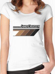 Land Cruiser body art series, brown arrows.  Women's Fitted Scoop T-Shirt