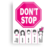 Don't Stop... (Pink Color) - Music Poster - Michael Jackson - Queen - Rihanna - Journey - Fleetwood Mac Metal Print