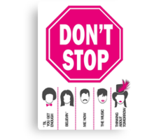 Don't Stop... (Pink Color) - Music Poster - Michael Jackson - Queen - Rihanna - Journey - Fleetwood Mac Canvas Print